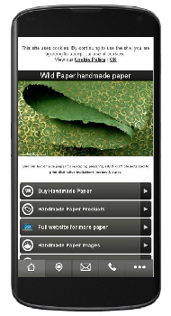 Click on Wild Paper mobile app on a smartphone