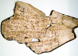 Oracle bone script on ox scapula | Wild Paper handmade paper