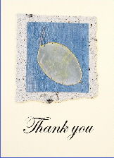 Handmade Thank You card - Blue Honesty