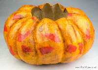 How to make a pumpkin bowl | Wild Paper handmade paper