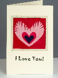 Handmade Valentines cards from Tropical Valentine Cards
