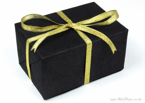 Gift wrapped in Ebony Black paper