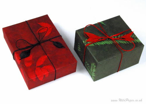 Gift wrapped in Romantic Red and Green Fern
