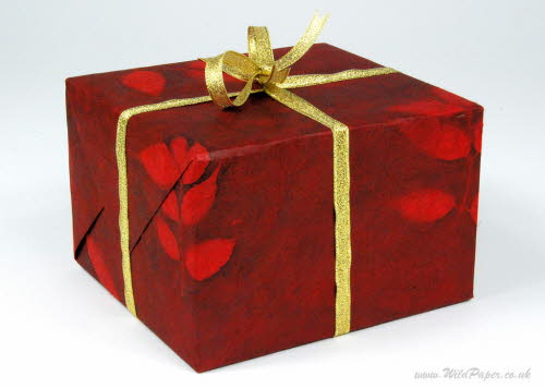 Gift wrapped in Romantic Red paper