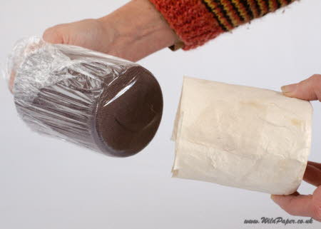 7.Remove the sock and cling film